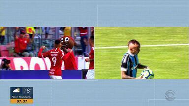 Everton e Guerrero são os concorrentes a protagonismo no Gre-Nal 422 - Os dois atacantes são os principais destaques em seus clubes.