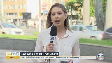 Ouvido mais uma vez pela polícia federal o homem que deu facada no presidente - Adélio Bispo está preso na Penitenciária de segurança máxima de Campos Grande no Mato Grosso do Sul.