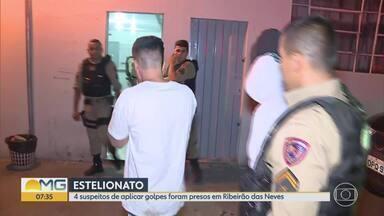 4 suspeitos de estelionato foram presos em Ribeirão das Neves - Segundo a polícia, eles faziam compras em lojas da cidade usando documentos falsos.