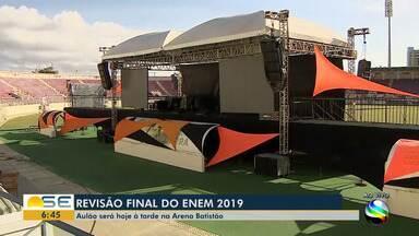 Aulão do Enem será realizado na Arena Batistão - Aulão do Enem será realizado na Arena Batistão.