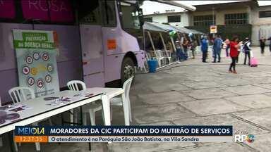 Moradores da CIC participam do Mutirão de Serviços - O atendimento vai até às 17h na Paróquia São João Batista