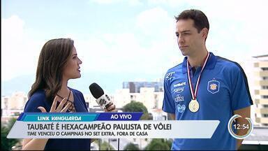 Capitão Rapha celebra sexta conquista estadual do Taubaté - Taubaté bate Campinas e fatura hexa do Paulista de Vôlei