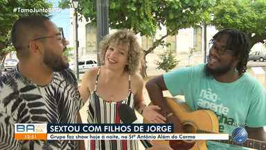 Filhos de Jorge fazem show nesta sexta-feira, em Santo Antônio Além do Carmo - Show acontece na Área de Eventos da Igreja do Santo Antônio Além do Carmo.