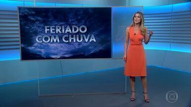 Veja a previsão do tempo para o fim de semana (2 e 3 de novembro) - A maior parte do Brasil vai ter chuva, inclusive volumosa em várias cidades.