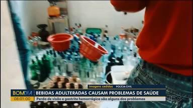 Fábrica clandestina de bebida destilada é fechada em Curitiba - Adulteração era feita com etanol de posto de combustíveis.