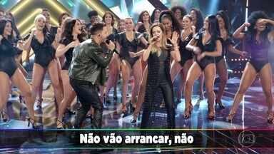 Sandy e Junior cantam 'Não dá pra não pensar' - Faustão homenageia a dupla
