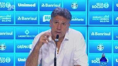 Confira a coletiva do técnico Renato Gaúcho após o Gre-Nal 422 - Assista ao vídeo.