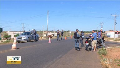 Polícia Rodoviária e Polícia Militar fazem operações em Balsas - Policiais estão reforçando a fiscalização no sul do estado para combater a criminalidade e as infrações de trânsito na cidade.