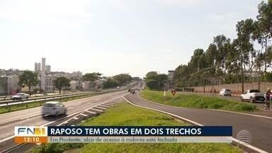 Obras interferem no tráfego de veículos na Rodovia Raposo Tavares - Trechos em Presidente Prudente e em Regente Feijó são afetados.
