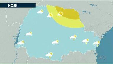 Chuva pode voltar ao noroeste está semana - Nuvens carregadas se deslocam para o Paraná.