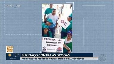 Movimento Direita Livre realiza manifestação contra as drogas em Uberlândia - Mobilização foi feita em várias cidades do país.