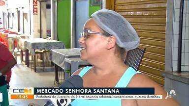 Comerciantes preocupados com reforma do Mercado Senhora Santana - Saiba mais no g1.com.br/ce