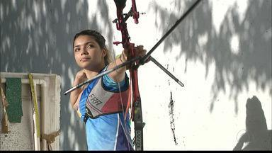 Paraibana se prepara para se tornar atleta olímpica no tiro com arco - Yasmin Durand trabalha para mudar de categoria e planeja crescimento na carreira