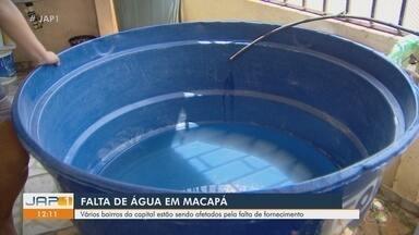 Vários bairros de Macapá estão sendo afetados pela falta de água - Vários bairros de Macapá estão sendo afetados pela falta de água