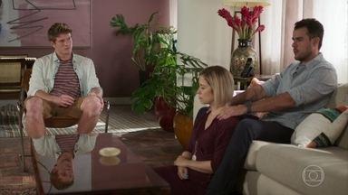 Joaquim, Lígia e Filipe se preocupam com a participação de Rui no processo - Lígia diz que não gostou do rapaz e achou a atitude dele muito agressiva