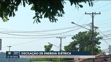 Moradores de Poxoréu reclamam de oscilação de energia - Moradores de Poxoréu reclamam de oscilação de energia