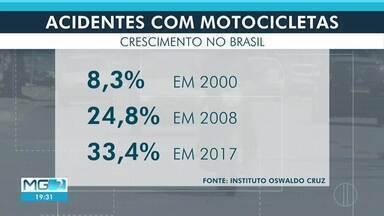 Em Montes Claros, Samu registra 180 acidentes com motociclistas - Muitos vão parar em hospitais com ferimentos graves.
