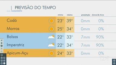 Veja as variações das temperaturas no Maranhão - Confira a previsão do tempo nesta terça-feira (5) em São Luís e também no interior do estado.