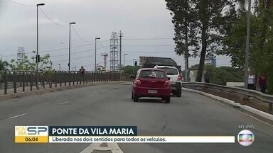 Ponte da Vila Maria, na Zona Norte de São Paulo, está liberada para trânsito - Obras emergenciais foram entregues no final desta segunda-feira (4).