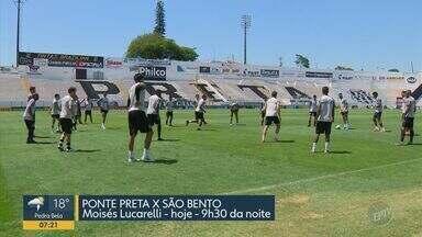 Macaca enfrenta o lanterna e tenta acabar com a sequência de maus resultados - Partida contra o São Bento é as 21h30 desta terça-feira (5), no Moisés Lucarelli.