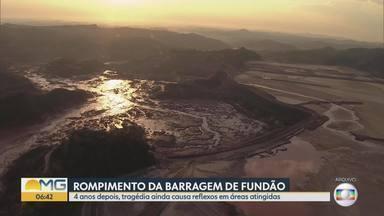 Rompimento da barragem da Samarco, em Mariana, completa 4 anos - Dezenove pessoas morreram. Uma delas ainda não foi encontrada.