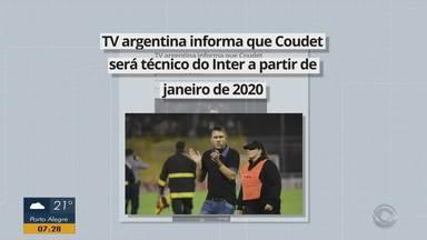 TV argentina informa que Coudet será técnico do Inter a partir de janeiro de 2020 - Jornalista afirma que empresário do treinador esteve em Porto Alegre para definir o contrato.