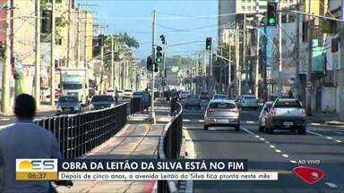 Depois de 5 anos, avenida Leitão da Silva em Vitória, fica pronta em novembro - Obra já está quase pronta.