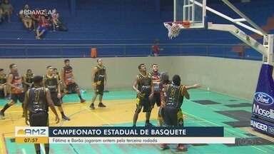 Fátima e Barão se enfrentaram na terceira rodada do Campeonato Estadual de Basquete no AP - Jogo aconteceu na segunda-feira (4).