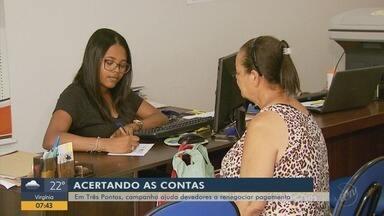 Campanha ajuda devedores a renegociar pagamento em Três Pontas, MG - Campanha ajuda devedores a renegociar pagamento em Três Pontas, MG