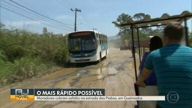O RJ Móvel foi a Queimados, nessa terça-feira - Os moradores querem que a Estrada das Piabas seja asfaltada