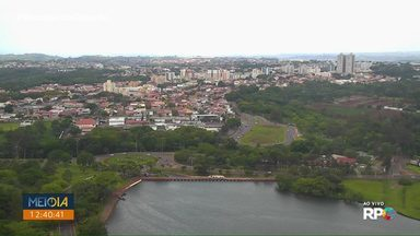 Possibilidade de chuvas rápidas em todo o Paraná nesta terça-feira (05) - Em Londrina a chuva chegou na hora do almoço, reduzindo um pouco o calor.