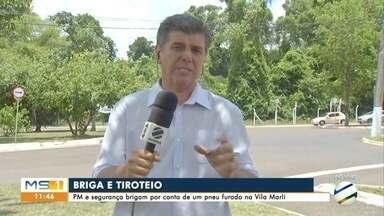 PM e segurança brigam por conta de um pneu furado na Vila Marli - PM e segurança brigam por conta de um pneu furado na Vila Marli