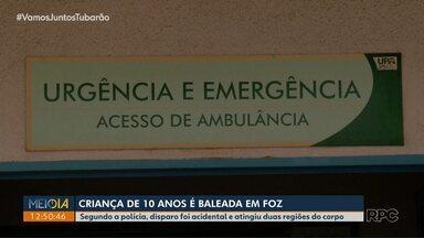 Criança de 10 anos é baleada em Foz do Iguaçu - Segundo a polícia, o disparo foi acidental e atingiu duas regiões do corpo.