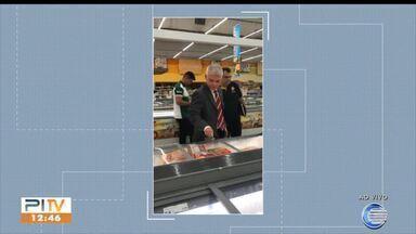 MPE e Vigilância Sanitária apreendem carne estragada em supermercados do litoral - MPE e Vigilância Sanitária apreendem carne estragada em supermercados do litoral