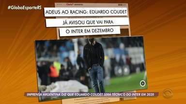 Imprensa argentina diz que Eduardo Coudet será técnico do Inter em 2020 - A direção do Inter não confirmou as informações.