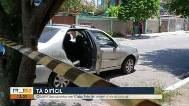Cabo Frio registra quatro casos de morte entre segunda (4) e terça (5) - Foram três assassinatos e um suspeito morto durante ação contra o tráfico.
