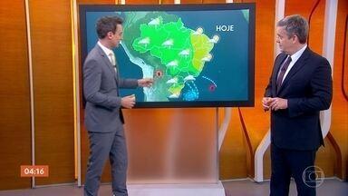 Chuva forte atinge pontos do Sudeste, parte do Paraná e Mato Grosso do Sul - Previsão é de mais chuva para esta quarta-feira em grande parte do Brasil.