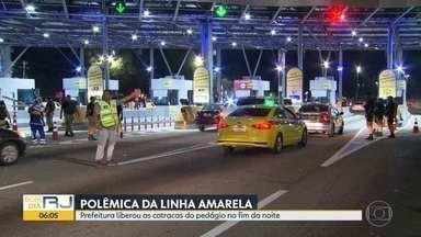 Prefeitura volta a liberar pedágio da Linha Amarela - A Câmara de Vereadores aprovou o projeto de lei sancionado pelo prefeito Marcelo Crivella.