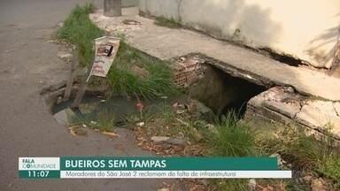 Fala Comunidade: Moradores da Zona Leste de Manaus reclamam de bueiros sem tampa - Falta de infraestrutura afeta a vida de quem mora no local.