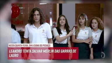 Resumo do dia - 07/11 – Leandro tenta salvar Merlin das garras de Lauro - Confira!