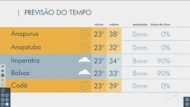 Veja as variações das temperaturas no Maranhão - Confira a previsão do tempo nesta quinta-feira (7) em São Luís e também no interior do estado.