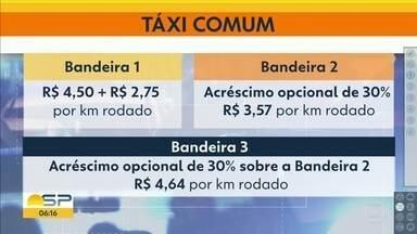Bandeira 3 para táxis na Capital - Tarifa 30% mais cara poderá ser cobrada em grandes eventos.