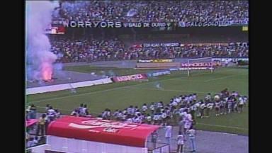 Campeão antecipado do Campeonato Mineiro de 91, Atlético-MG vence o Cruzeiro por 1 a 0 - Campeão antecipado do Campeonato Mineiro de 91, Atlético-MG vence o Cruzeiro por 1 a 0