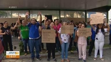 Terceirizados da Saúde fazem protestos em Manaus - Segundo eles, salários estão atrasados.