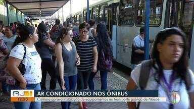 Câmara aprova instalação de ar condicionado nos ônibus de Macaé - Aprovação foi nesta quarta-feira (6).