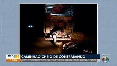 Caminhão com produtos oriundos do Paraguai é apreendido - Ocorrência foi registrada em Irapuru, nesta quinta-feira (7).