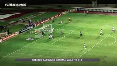 Grêmio e São Paulo disputam vaga no G-4 - Assista ao vídeo.