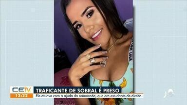Preso suspeito de tráfico em Sobral que recebia ajuda da namorada - Saiba mais no g1.com.br/ce