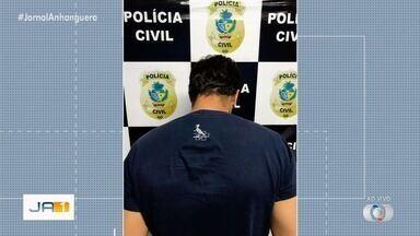 Homem é preso suspeito de obrigar mulheres a fazer sexo para não divulgar fotos nuas - Ele foi preso em Morrinhos. Ele ameaçava publicar imagens em redes sociais.