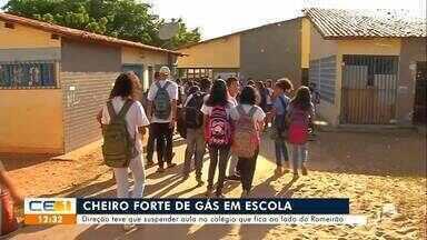 Aulas são suspensas em escola por causa do cheiro forte de gás - Saiba mais no g1.com.br/ce